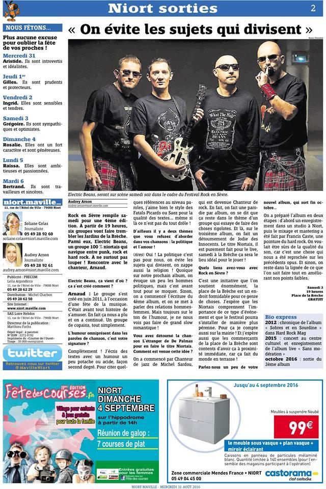 Interview dans le cadre du festival Rock en Sèvre