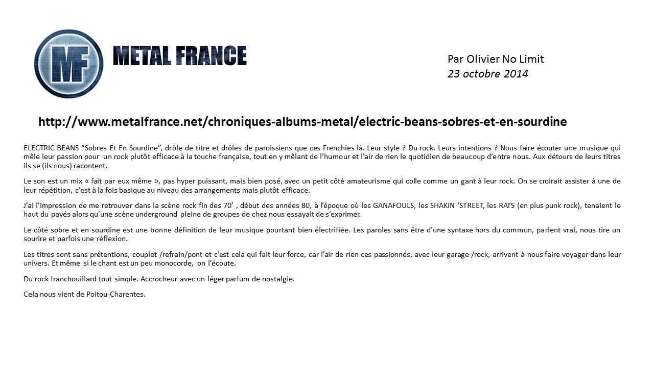 Chronique Metal France